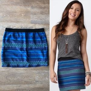 American Eagle Woven Striped Mini Skirt